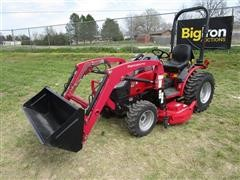 2017 Mahindra MX26HILM MFWA Compact Utility Tractor W/Loader & Mower