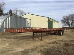 1983 Hobbs T/A Flatbed Trailer