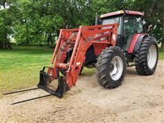 2003 Case IH MXM140 MFWD Tractor W/Loader