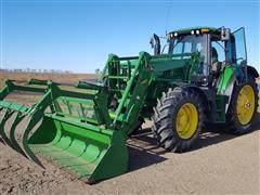 2014 John Deere 6140M MFWD Tractor W/H360 Loader