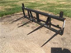 Worksaver FLBS-432 Front Loader 4-Prong Bale Spear