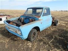 1967 Chevrolet C10 2WD Pickup Chassis, Bed & Tailgate