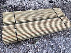 "1 1/4"" X 6' Long High Tensile Electric Fiberglass Fence Posts"