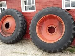 18.4 X 38 Radial Tractor Tire Duals On Rims