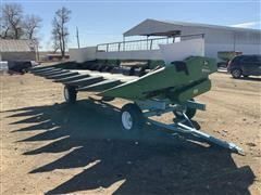 John Deere 853A 8R30 Corn Head W/ Header Trailer