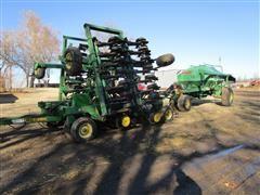 John Deere 1850 & 787 30' No-Till Air Seeder & Split Bin Seed Cart