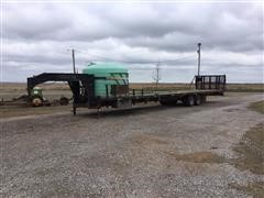 Shop Made 40 ' T/A Flatbed Trailer W/Tank