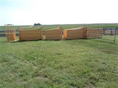 2012 For-Most 3-Section Livestock Double Alleyway W/Palpation Cage