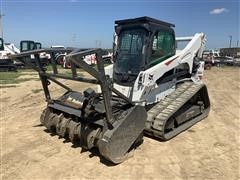 2017 Bobcat T870 Compact Track Loader W/Forestry Cutter