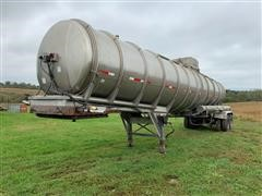 1985 Brenner SS Transport 7400 Gallon T/A Tank Trailer