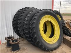 Kelly 14.9R46 Mounted Tractor Tires & Rims