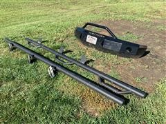2008 Ford F350 Iron Cross Front Bumper And Steps