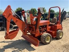 2003 DitchWitch 3700DD Trencher, Backhoe & Backfill Blade