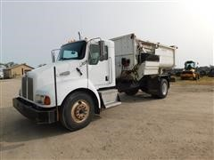 2004 Kenworth T300 S/A Feed Mixer Truck W//Roto-Mix 490-14