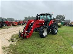 2014 Massey Ferguson 7619 MFWD Tractor W/Loader