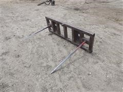 Shop-Built Quick-Attach Skid Steer Bale Spear