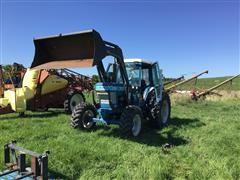 1982 Ford 7710 MFWD Tractor W/Quicke Q750 Loader & Attachments
