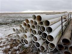 """Plastic 8""""X 30' Plastic Irrigation Pipe"""