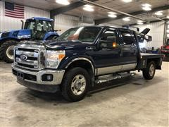 2011 Ford F350 XLT 4x4 Crew Cab Flatbed Pickup