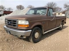 1992 Ford F150 Custom 2WD Regular Cab Long Box Pickup