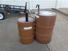 Steel Drums W/Hand Pumps