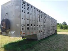 1992 Wilson PSDCL-302 Aluminum T/A Livestock Trailer
