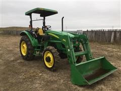 2006 John Deere 5325 Compact MFWD Tractor W/Loader & Bale Fork