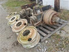 Ridewell Suspension Axle & 4 Rims