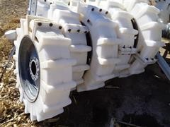 Mach II 11.2 X 24 Poly Pivot Tires With Steel Rims