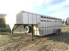 1997 Duralite T/A Aluminum Livestock Trailer