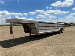 1994 Featherlite Aluminum Low Profile T/A Livestock Trailer