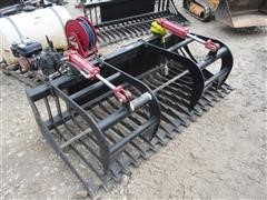 "72"" Twin Grapple Rock Bucket Skid Steer Attachment"