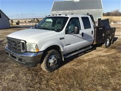2003 Ford F350 Dually 4x4 Crew Cab Flatbed Pickup