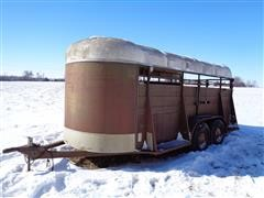 1979 Flying L Trail Boss 16 T/A 16' Livestock Trailer
