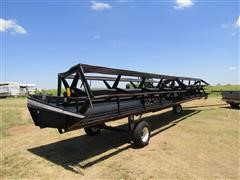 1995 MacDon 960 Draper Header w/Split Bat Reel & Transport