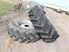 Continental 18.4R34 Tires On CIH Rims