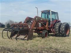 1979 International 1086 2WD Tractor W/ Loader