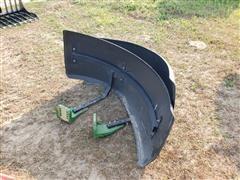 John Deere MFWD Tractor Front Fenders W/Mounting Brackets