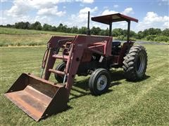 1988 Case IH 685 2WD Tractor W/Loader