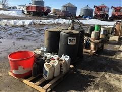 Oil Drums, Buckets And Jugs