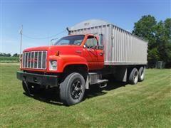 1990 GMC TopKick T/A Grain Truck W/ 18' Aluminum Bed