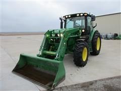 2013 John Deere 6125R MFWD Tractor W/Loader