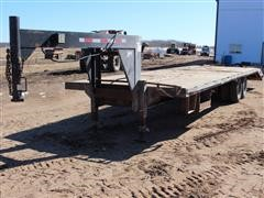 1997 Davis GF5510 T/A Dove Tail Flatbed Trailer