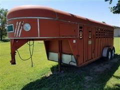 1987 Kiefer Built EPG 6'x18' T/A Livestock Trailer