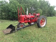 1945 McCormick Farmall H 2WD Tractor W/Duncan Loader