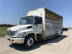 2007 Hino 338 S/A Plate Glass Service Truck W/Glass Rack Bed