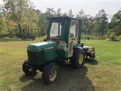 1992 John Deere 855 4WD Compact Utility Tractor W/Rototiller