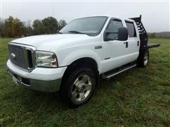 2007 Ford F250 Lariat 4x4 Extended Cab Flatbed Pickup