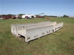 4 Concrete Feed Bunks, 3 Open-Ended, 1 w/ Closed End
