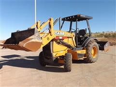 2014 Case 570N XT 4x4 Skip Loader With Box Blade